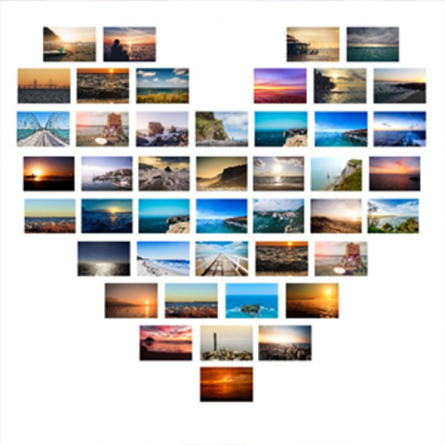 Heart Collage Canvas Prints From 11